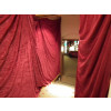 Red Silk Curtains (Medium)