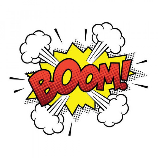 comic strips with boom and pow