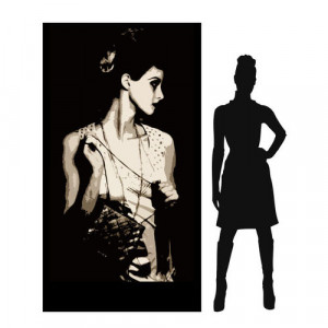 1920's lady (brunette)