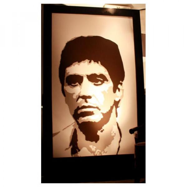 Al Pacino (Scarface) Silhouette Panel
