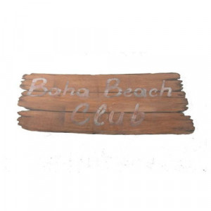 Baha Beach Club Sign