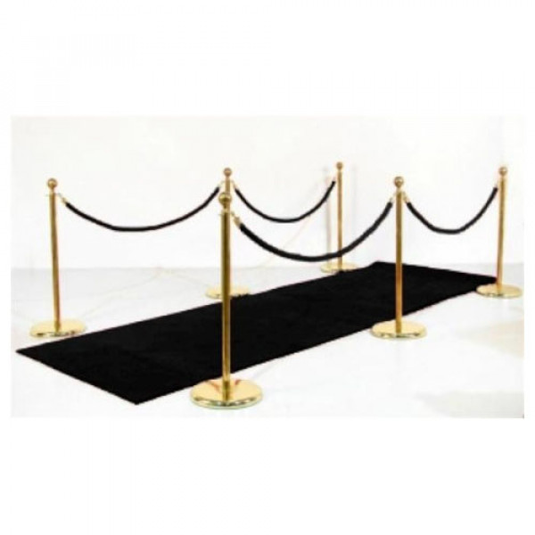 Black Carpet Ropes and Poles