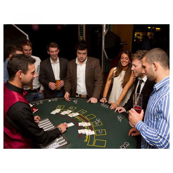 Blackjack Casino Table with Croupier