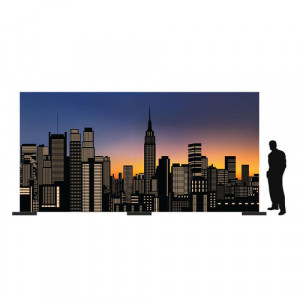 City Skyline New York Backdrop