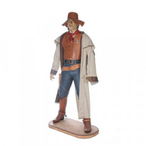 Cowboy - life size resin cast
