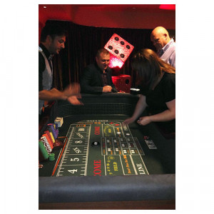 Craps Casino Table with Croupiers