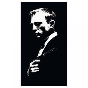 Daniel Craig 1 Silhouette Panel