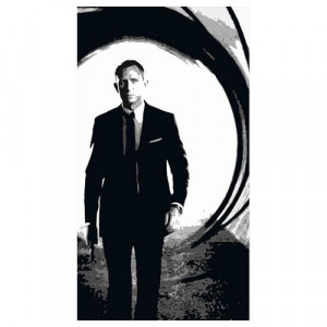 Daniel Craig 2 Silhouette Panel