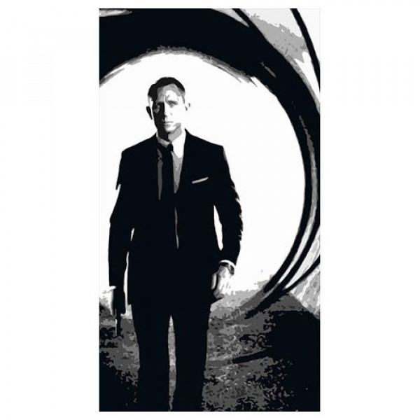Daniel Craig 2 Silhouette Panel 1