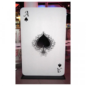 Giant Ace of spades prop