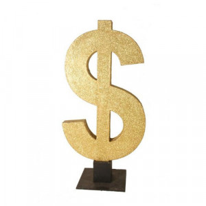 Glitter Dollar Sign 3D
