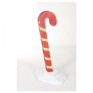 Glittered Candy Cane in Snow