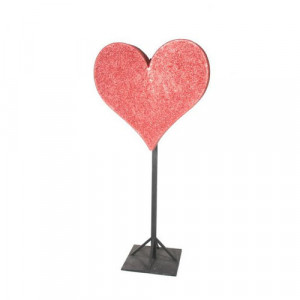 Glittered Heart on Stand
