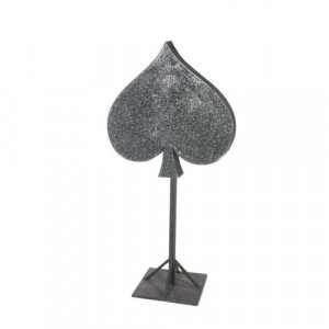 Glittered Spade on Stand