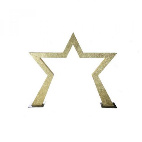 Gold Glitter Star Entranceway 1