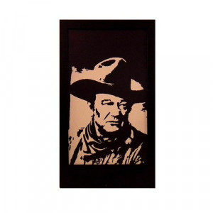 John Wayne Silhouette Panel