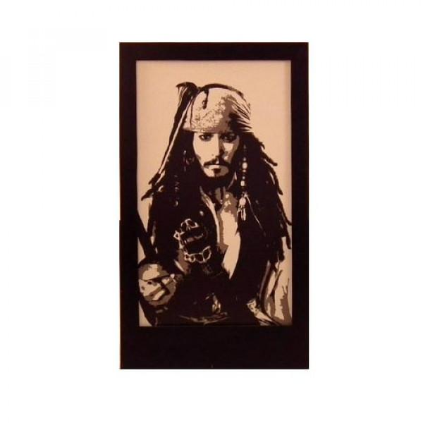 Jonny Depp (Jack Sparrow) Silhouette Panel