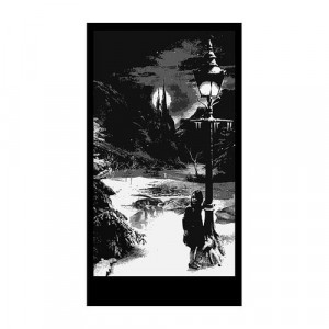 Lampost and Girl Silhouette Panel