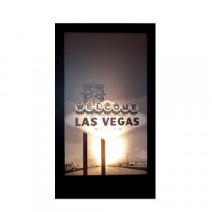 Las Vegas Sign Silhouette Panel