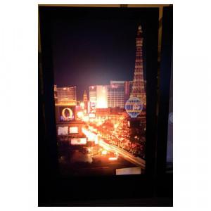 Las Vegas at Night 1 Silhouette Panel