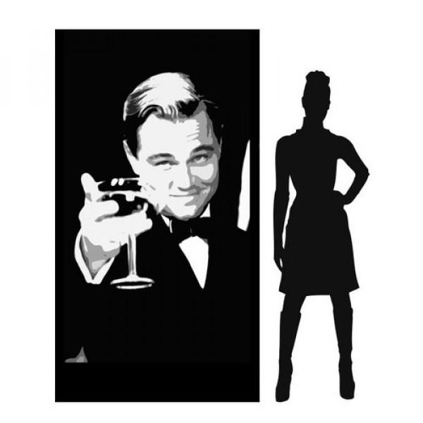 Leonardo De Caprio (Gatsby) Silhouette Panel