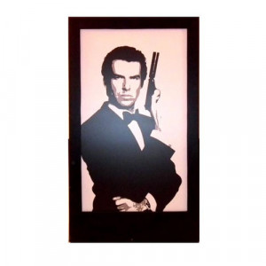 Pierce Brosnan Silhouette Panel