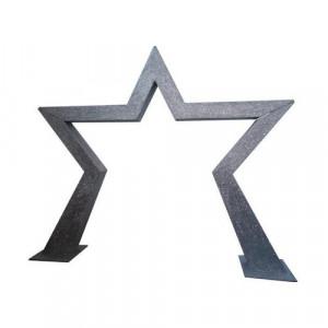 Silver Glitter Star Entranceway