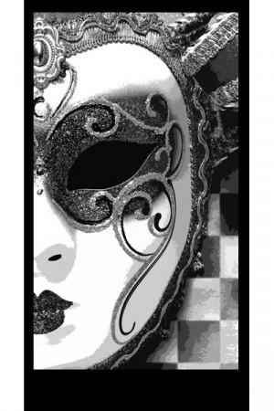Masquerade silhouette panel