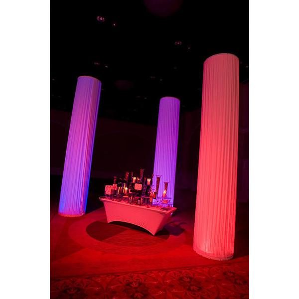 10ft fabric columns