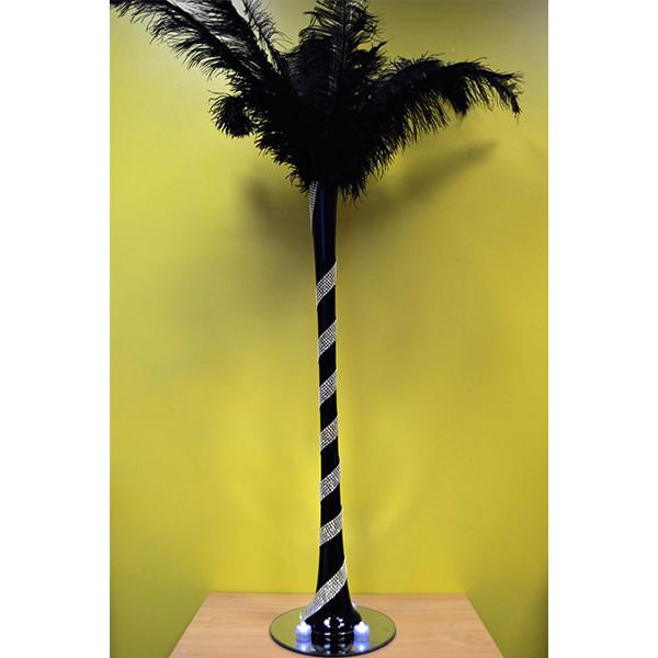 Black Vase – Black Feathers