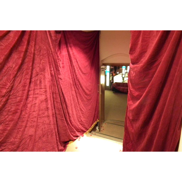 red draping