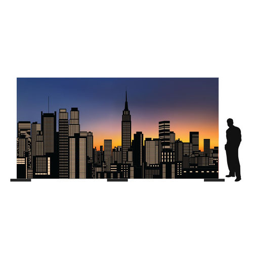 City Skyline New York Backdrop on red carpet props